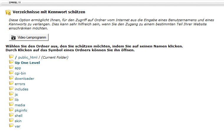 cpanel-verzeichnis-passwortschutz-uebersicht